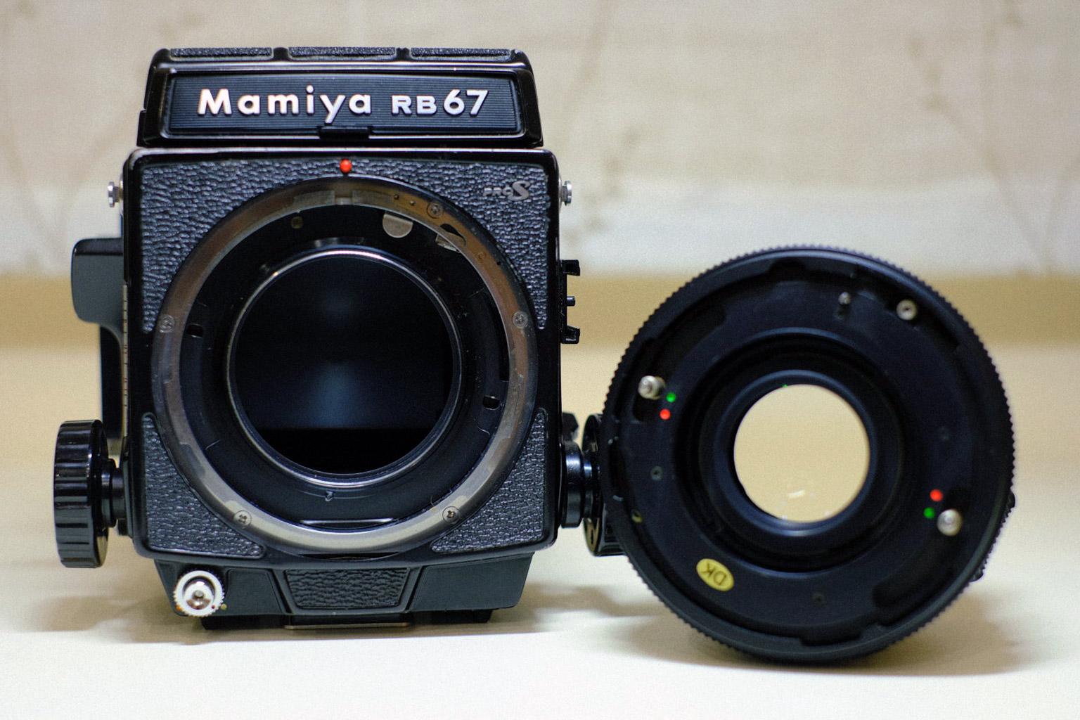 Mamiya RB67 PROFESSIONAL S 6×8電動フィルムパック/SEKOR C 127mm f3.8